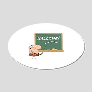 Teacher 22x14 Oval Wall Peel