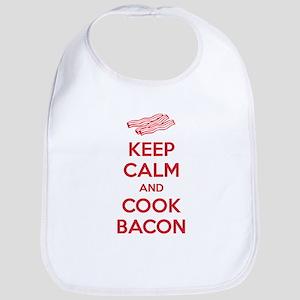 Keep calm and cook bacon Bib