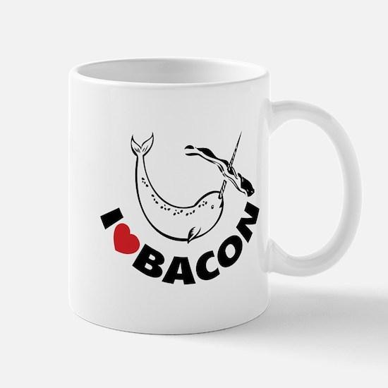 I love bacon narwhal Mug