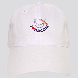 I love bacon narwhal Cap