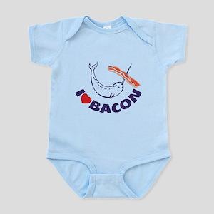I love bacon narwhal Infant Bodysuit