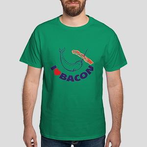 I love bacon narwhal Dark T-Shirt