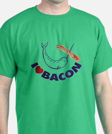 I love bacon narwhal T-Shirt