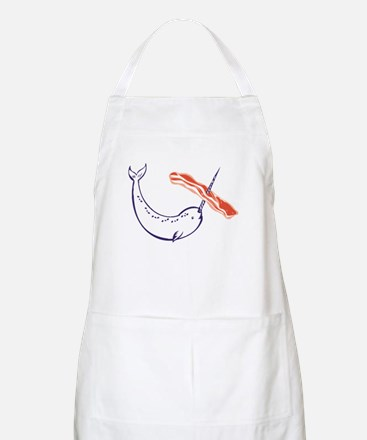 I love bacon narwhal Apron