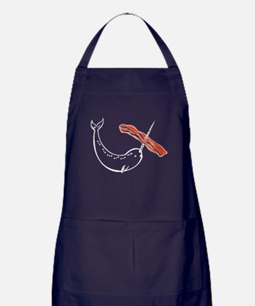 I love bacon narwhal Apron (dark)