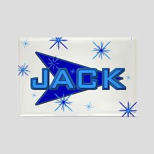 Jack - Blue Sparkle Rectangle Magnet