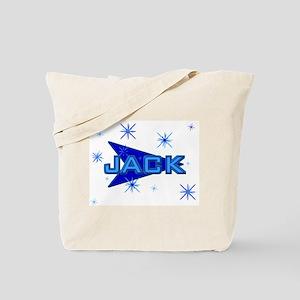 Jack  - Blue Sparkle Tote Bag