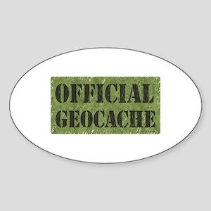 Official Geocache Oval Sticker