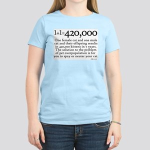 420,000 Cat Overpopulation Women's Light T-Shirt