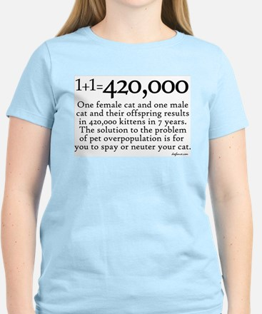 420,000 Cat Overpopulation Women's Light T-Shirt