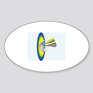 Darts Sticker (Oval)