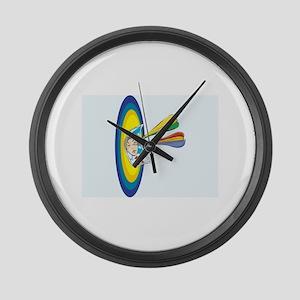 Darts Large Wall Clock
