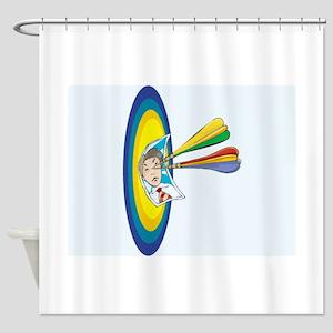 Darts Shower Curtain