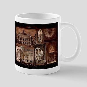 Paris Opera House collage Mugs
