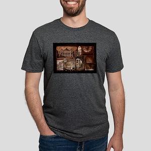 Paris Opera House collage Mens Tri-blend T-Shirt