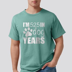 75th Birthday Dog Years Mens Comfort Colors Shirt