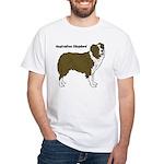 Australian Shepherd White T-Shirt
