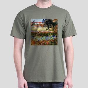 Van Gogh Jardin Fleuri A Arles Dark T-Shirt