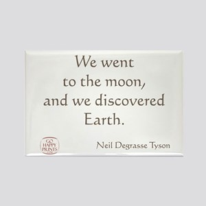 We went to the moon Rectangle Magnet