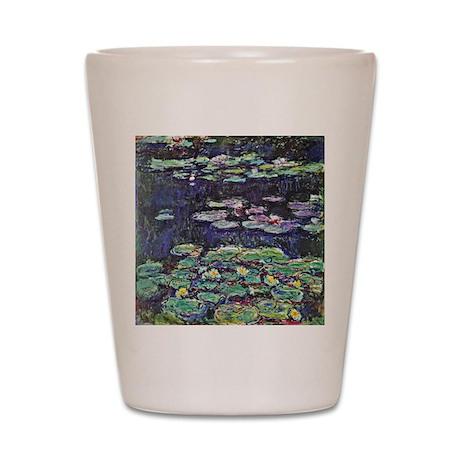 Claude Monet Water Lilies Shot Glass
