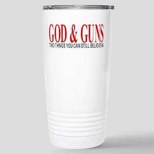 GOD AND GUNS Stainless Steel Travel Mug