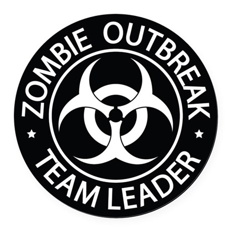 ZO Team Leader Black Round Car Magnet