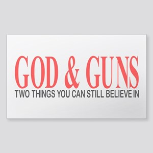 GOD AND GUNS Sticker (Rectangle)