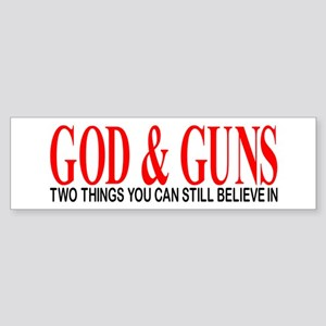 GOD AND GUNS Sticker (Bumper)