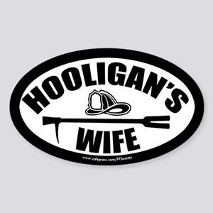FPS: Hooligans Wife Sticker (Oval)