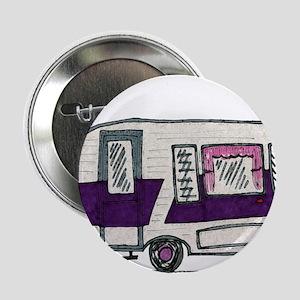 "Cutie Purple VIntage Trailer 2.25"" Button"