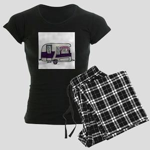 Cutie Purple VIntage Trailer Women's Dark Pajamas