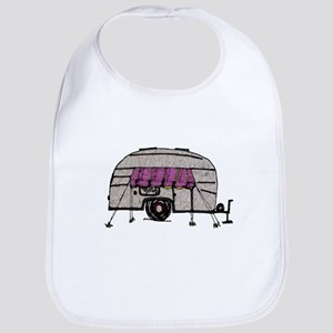 Vintage Airstream Camper Trailer Art Bib