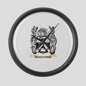 Blacksmith Family Crest - Blacksm Large Wall Clock