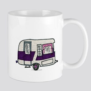 Cutie Purple VIntage Trailer Mug