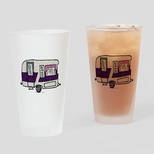 Cutie Purple VIntage Trailer Drinking Glass