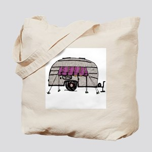 Vintage Airstream Camper Trailer Art Tote Bag