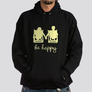Be Happy Hoodie (dark)
