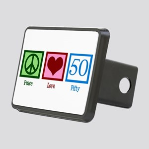 Peace Love 50 Rectangular Hitch Cover