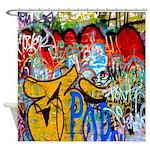 Colorful Graffiti Urban Art Shower Curtain