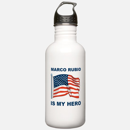 marco rubio is my hero.png Water Bottle