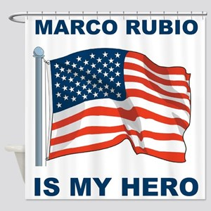 marco rubio is my hero Shower Curtain