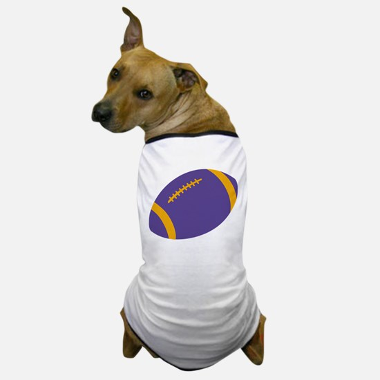 Purple and Gold Football Dog T-Shirt