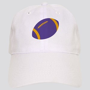 Purple and Gold Football Cap