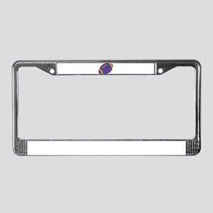 Purple and Gold Football License Plate Frame