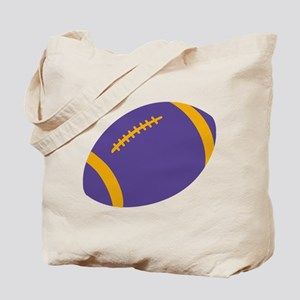 Purple and Gold Football Tote Bag