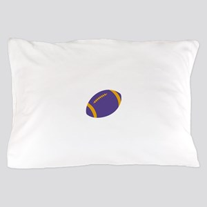 Purple and Gold Football Pillow Case