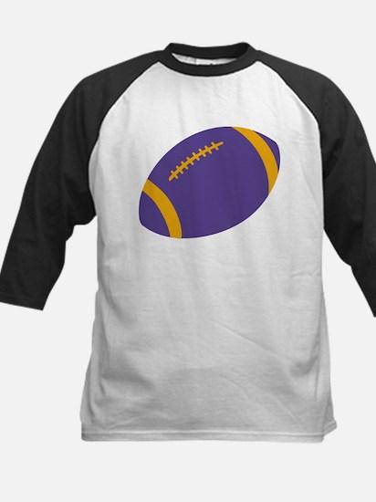 Purple and Gold Football Kids Baseball Jersey