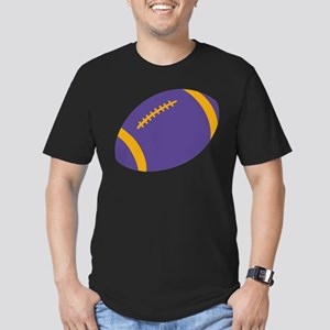 Purple and Gold Football Men's Fitted T-Shirt (dar