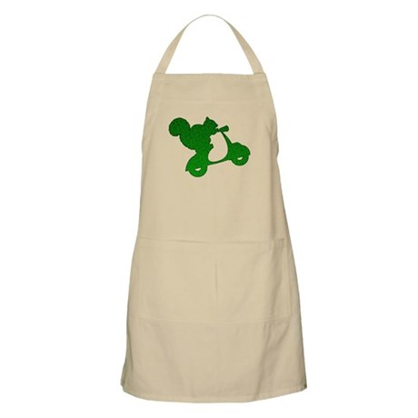 Green Squirrel on Scooter Mosaic Apron