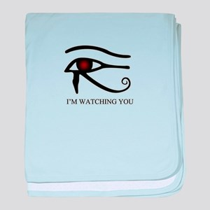 Im watching you baby blanket